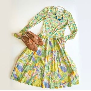 70s dress by Vera Maxwell. Very good vintage